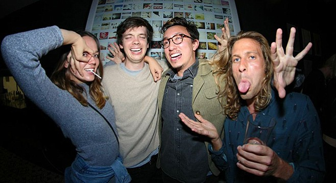 Drummer Ryan Miller (far right) and his alt-pop band Ed Ghost Tucker in November conjured debut EP, Channels.