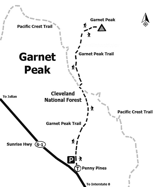 Garnet Peak trail map