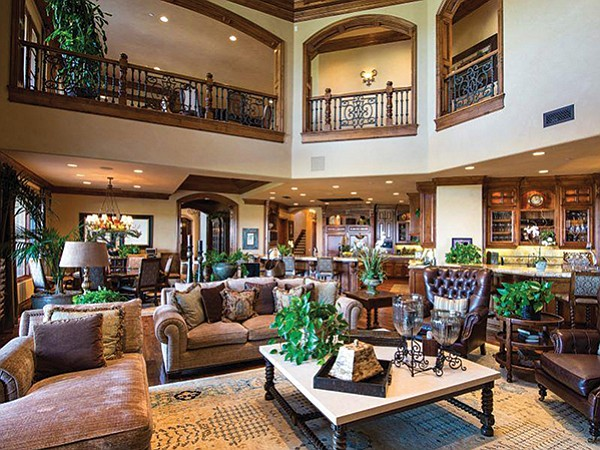 The living area was appointed by noted Rancho Santa Fe designer Maria Barry of Le Dimora.