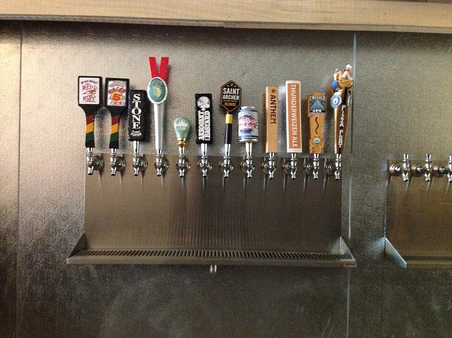Early taplist selections, with room for many more.