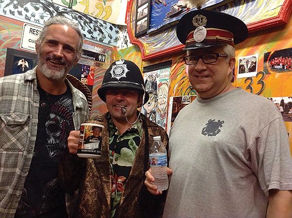Mario (middle) with regulars Joe and Joe