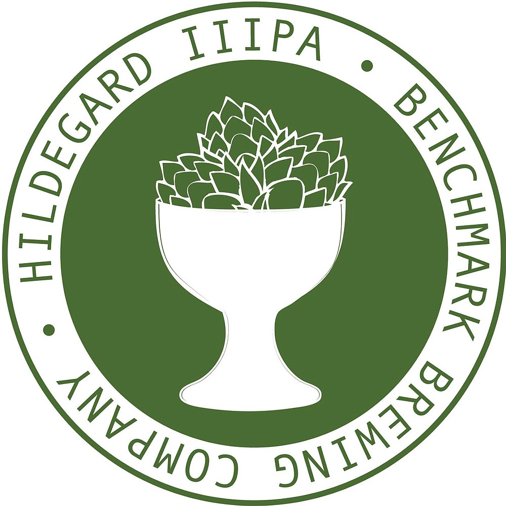 The logo for Hildegard Triple IPA, Benchmark Brewing Company's contribution to the Beer to the Rescue campaign benefiting the Lupus Foundation of Southern California
