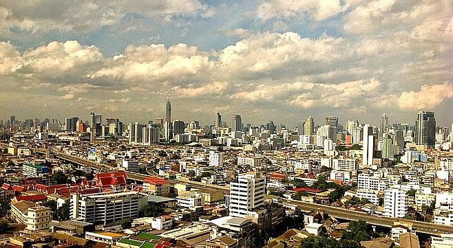 Bangkok's skyline.