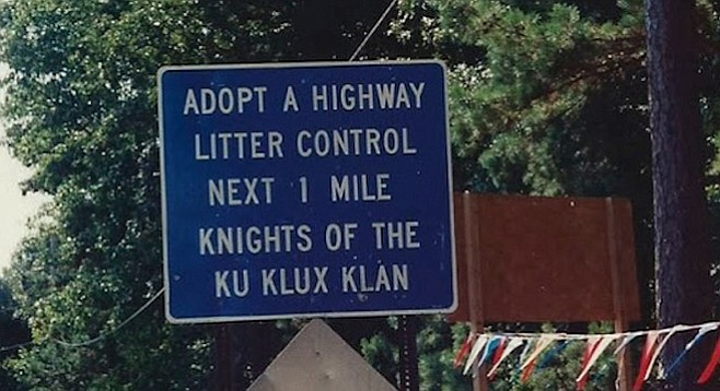Highway patrolled by the KKK