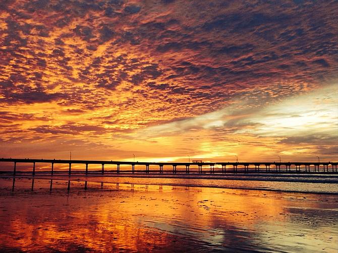 December sunset in OB