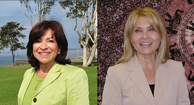 Mary Salas and Shirley Horton