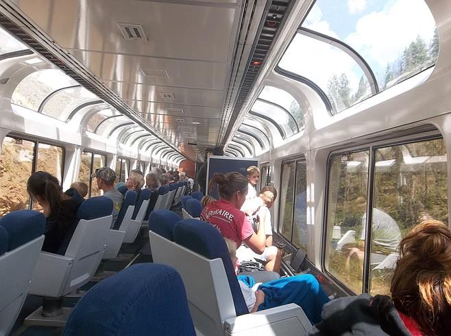 Amtrak observation car.