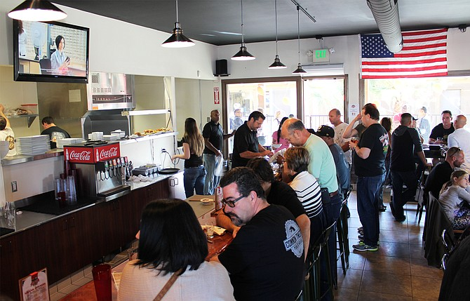 The bar and dining room at Legacy Brewing Company's Miramar tap and kitchen - Image by @sdbeernews