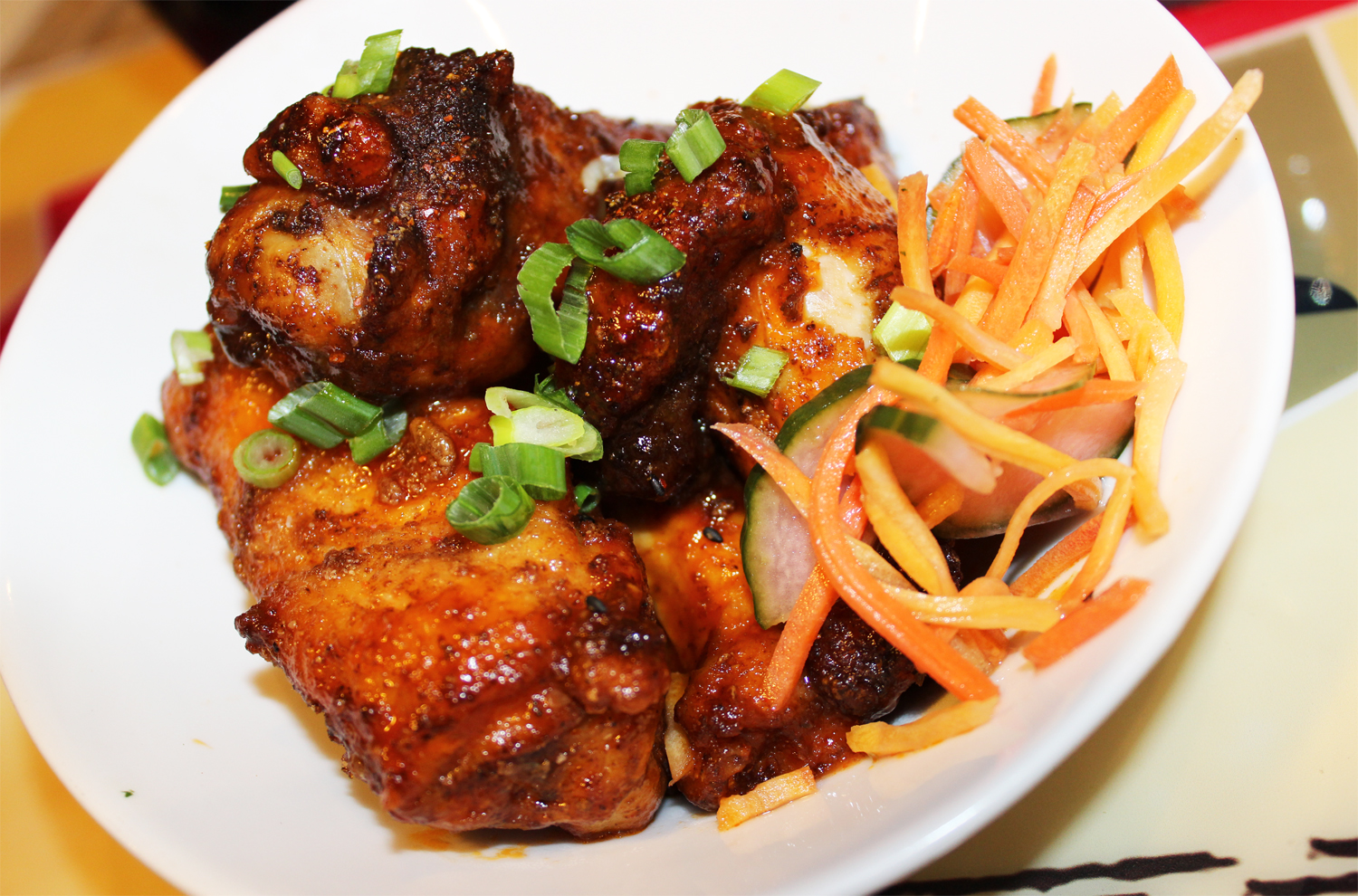 A dry spice rub lends unique flavor to spicy wings at Legacy Brewing Tap & Kitchen in Miramar
