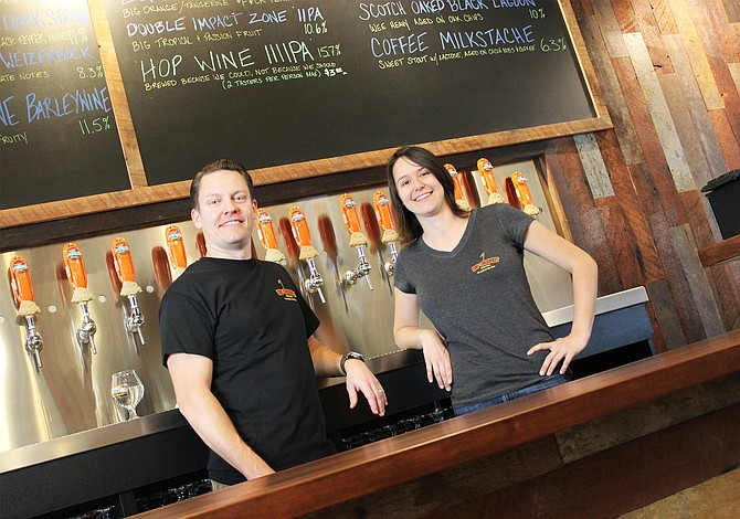 Rip Current Brewing's North Park servers all smiles right before opening for business - Image by @sdbeernews