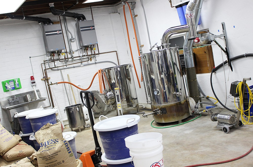 The brewhouse at Wavelength Brewing Company