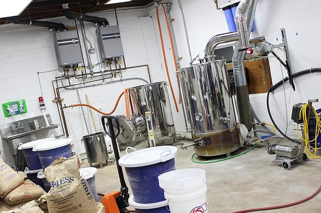 The brewhouse at Wavelength Brewing Company