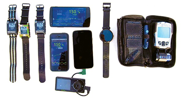 Nightscout and other gadgets used by the Calabrese family