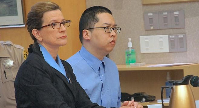Attorney Kathleen Cannon and Bryan Chang
