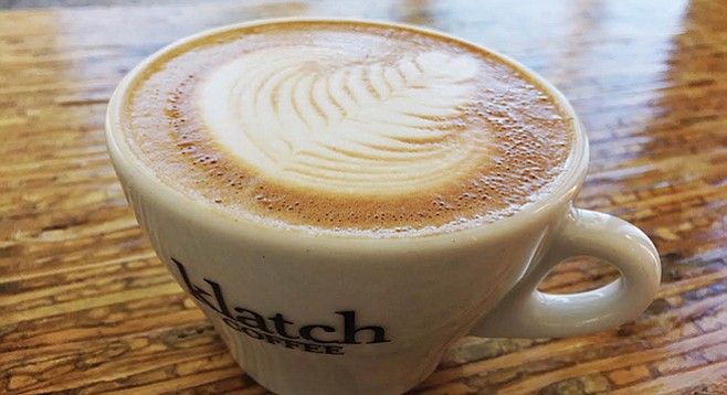 Highly rated Klatch Coffee beans available in Escondido