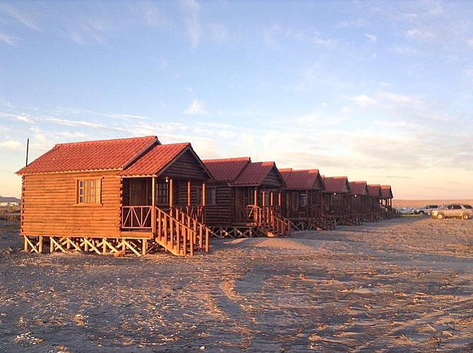 Cabins at sunset.