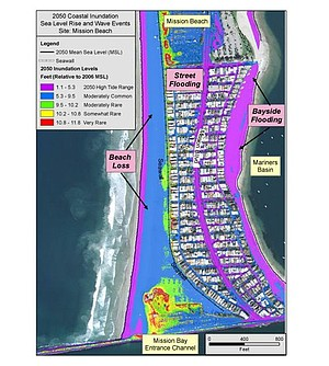 Mission Beach Flood Map