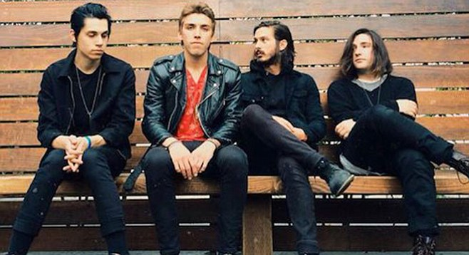 The rock-and-roll shows will go on, says UCSD, as L.A. alt-rockers Bad Suns plug in at Porter's Pub on January 22.