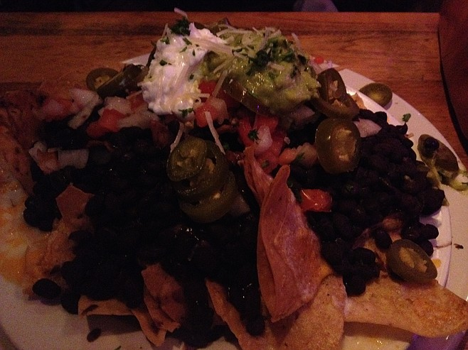 Nacho pile, High Dive Bar & Grill
