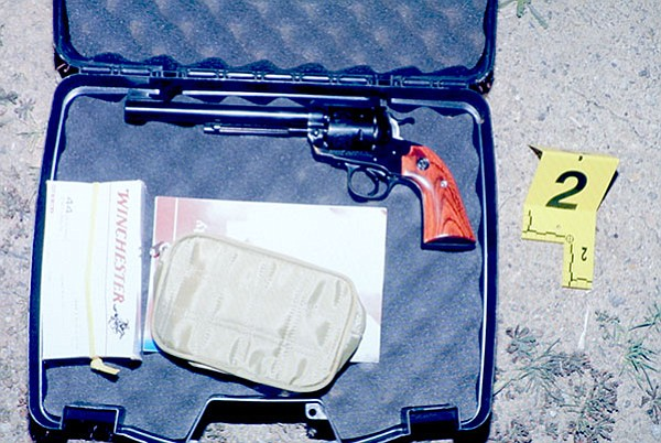 When investigators opened the gun case, this is what they saw