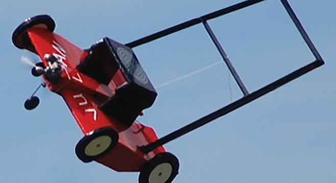 Watch out for flying lawnmowers, sports fan, they'll kill you.