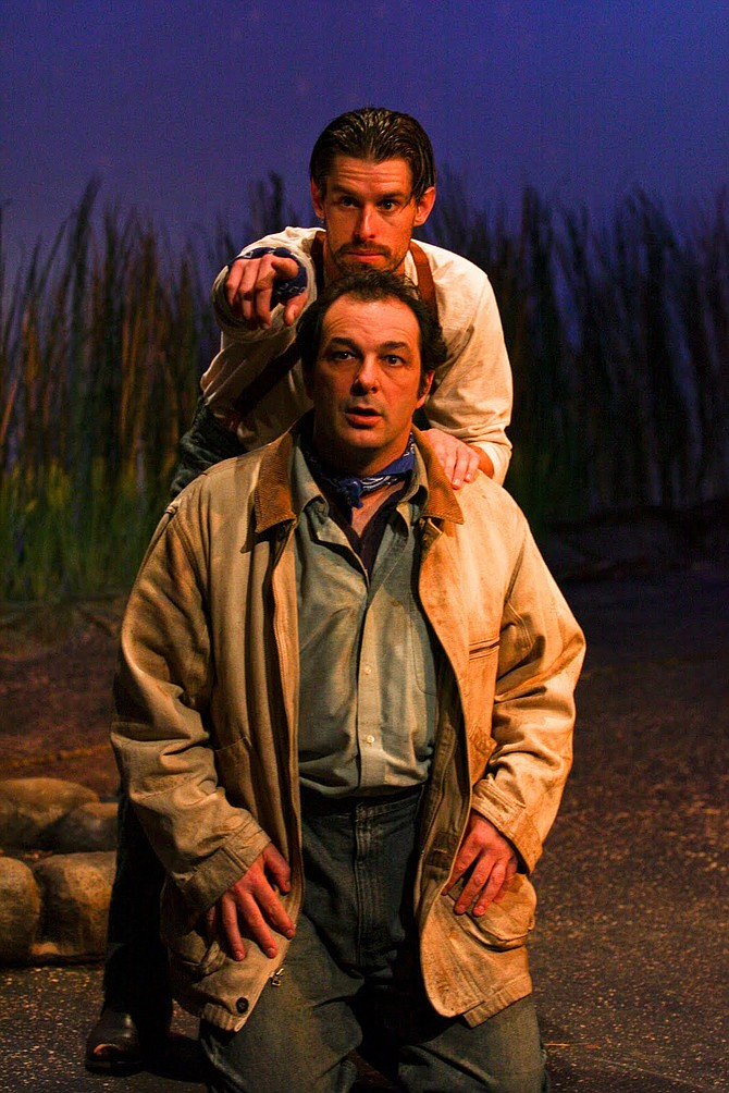 lennie and george in of mice and men by john steinbeck essay
