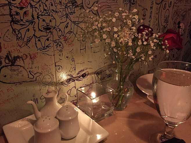 Our table, tucked against one wall at DaoFu in Normal Heights.