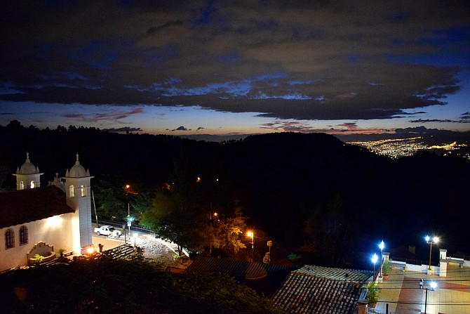 View of Tegucigalpa at sunset from Tres Puntos. Santa Lucia, Honduras.