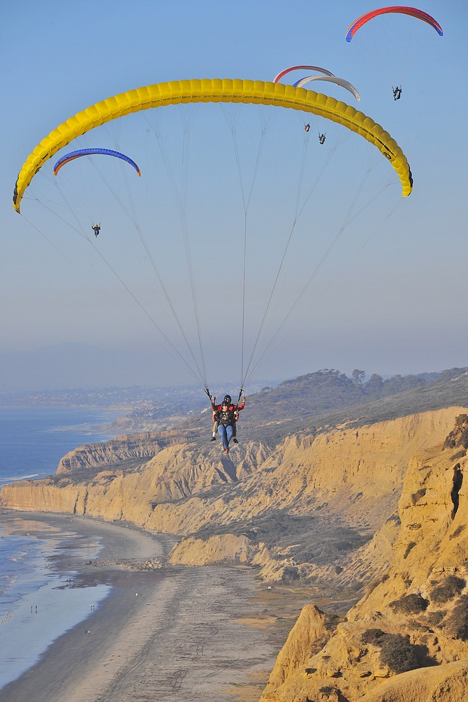 Paragliding at the Torrey Pines Gliderport. The most terrifying experience of my life.