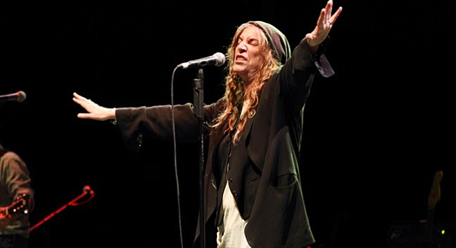 Punk poet Patti Smith takes the stage at Balboa Theatre Saturday night!