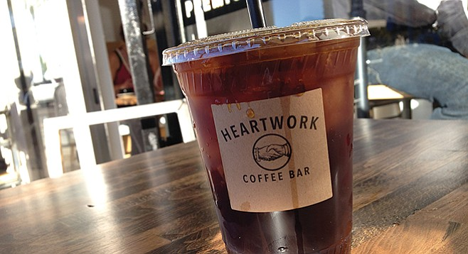 James and Dark Horse coffee now being served at newly opened Heartwork Coffee Bar in Mission Hills.