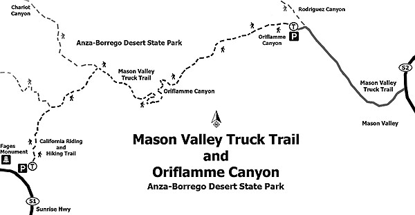 Oriflamme Canyon and the Mason Valley Truck Trail