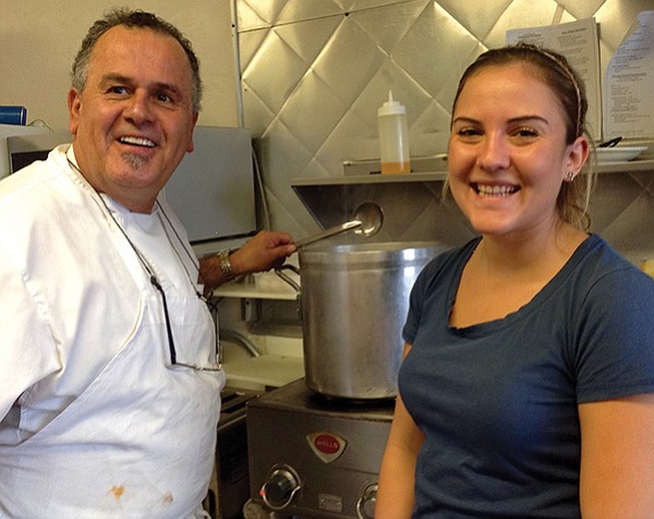 Bleu Whisk owner-chef John Barrios and daughter Taylor