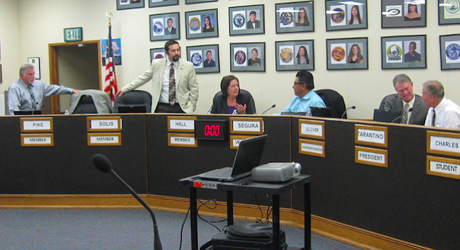 Current Sweetwater board (Tim Glover, second from right, resigned January 27)