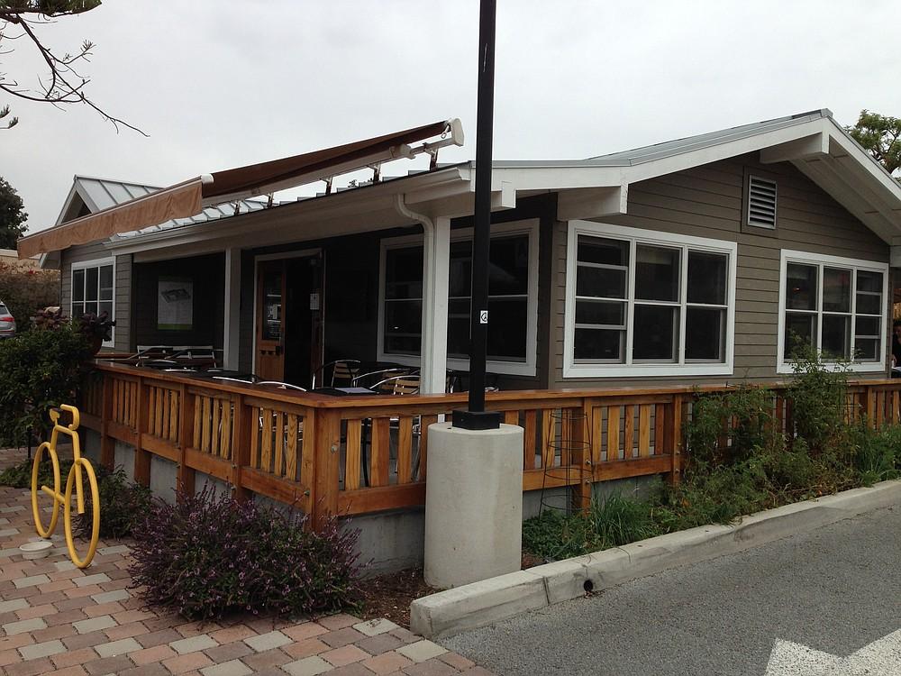 A quaint little LEED certified restaurant setting near the Coaster station.