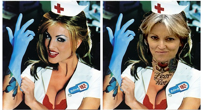 Hello, nurse: Janine Lindemulder, then and now.