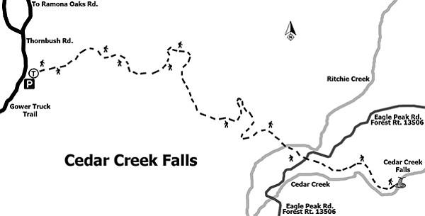 Trail to Cedar Creek Falls