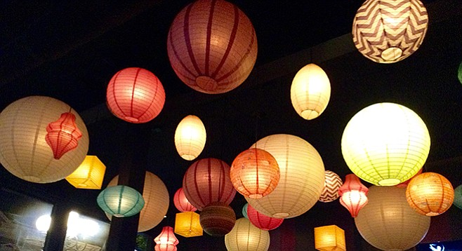 Paper lanterns set the atmosphere