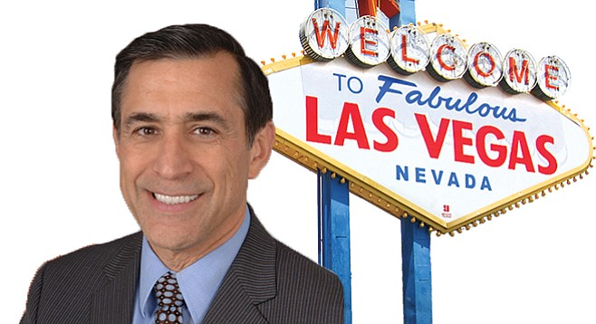 Darrell Issa's staffer justified a Vegas trip on a lobbyist's dime.