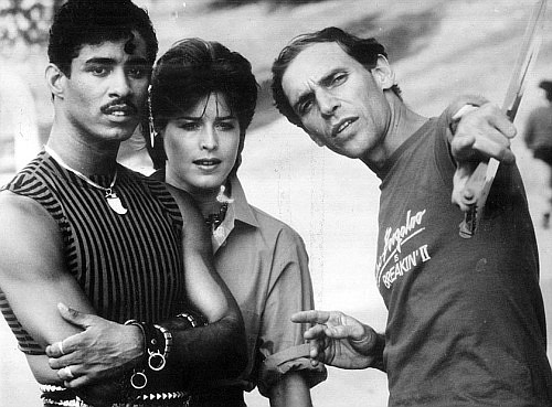 "Firstenberg directs Adolfo ""Shabba-Doo"" Quinones and Lucinda Dickey in Breakin' 2: Electric Boogaloo"