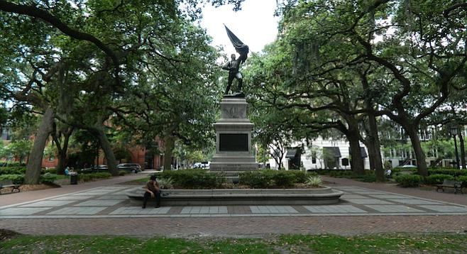 One of Savannah, Georgia's 22 public squares.
