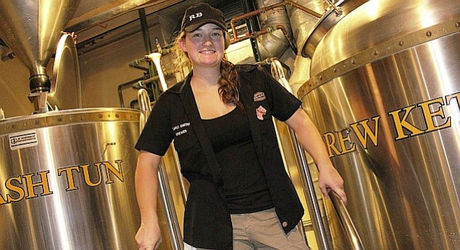 New Rock Bottom La Jolla head brewer Carli Smith