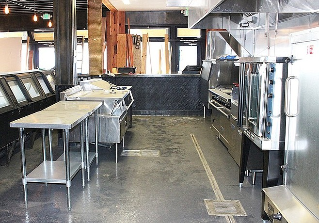 South Park Brewing Co.'s sizable kitchen space