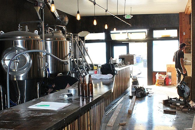 The bar will offer unimpeded views of the brewery