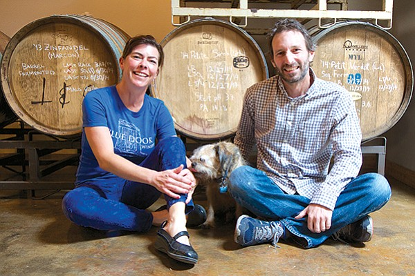 This year the Blue Door's Kameron Robbins and Mark Hashagen got 2/3 of their grapes from Santa Barbara County vineyards.