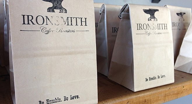 Caffeine Crawl attendees received complimentary beans from Ironsmith Coffee Roasters.