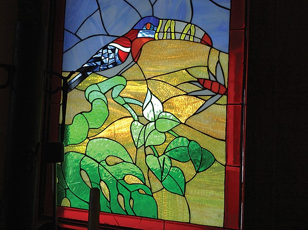 Stained glass panels add flavor to this I.B. institution