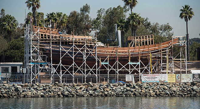 San Salvador build site at Spanish Landing