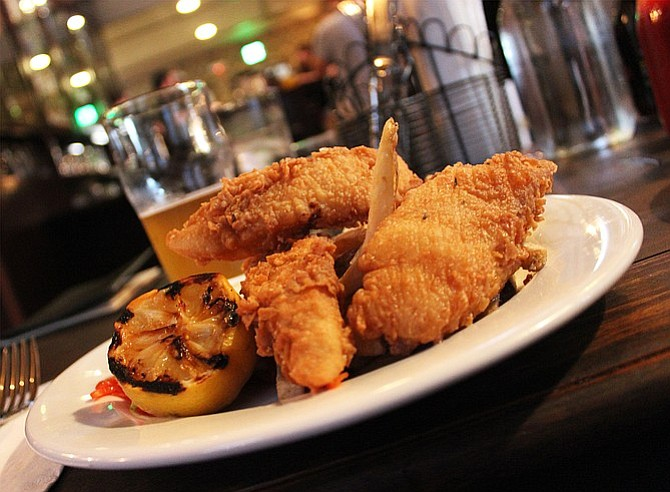 Half Door Brewing Company's fish and chips