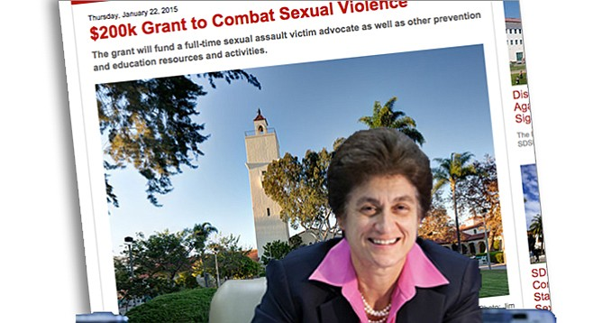 Elaine Howle turned up the heat on SDSU because the school didn't have a confidential advocate  for victims of sexual violence.